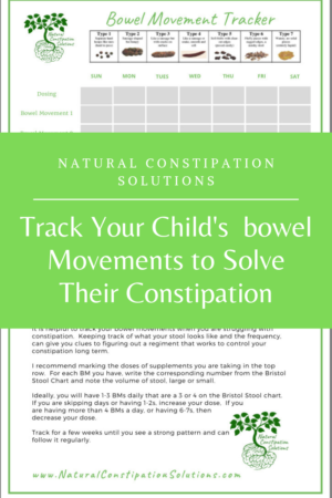Track Your Child's Bowel Movements for Constipation dosing and relief Natural Constipation Solutions